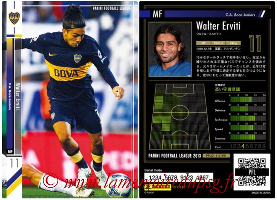 Panini Football League 2013 - PFL01 - N° 117 - Walter Erviti ( C.A. Boca Juniors )