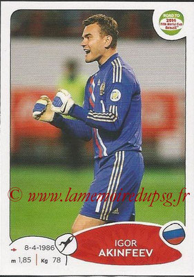 2014 - Panini Road to FIFA World Cup Brazil Stickers - N° 327 - Igor AKINFEEV (Russie)