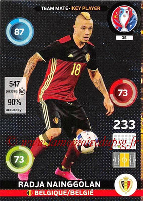 Panini Euro 2016 Cards - N° 035 - Radja NAINGGOLAN (Belgique) (Key Player)