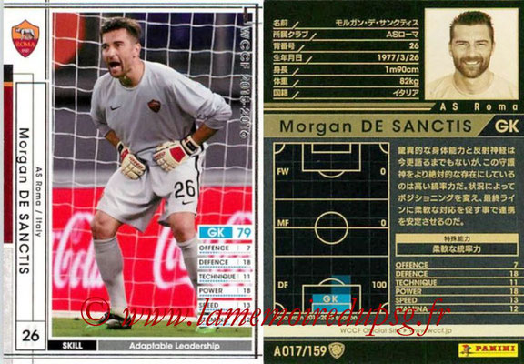 2015-16 - Panini WCCF - N° A017 - Morgan DE SANCTIS (AS Roma)