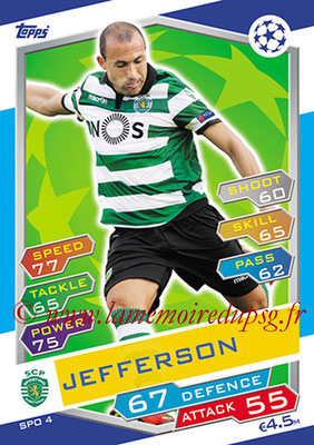 2016-17 - Topps UEFA Champions League Match Attax - N° SPO4 - JEFFERSON (Sporting Club de Portugal)