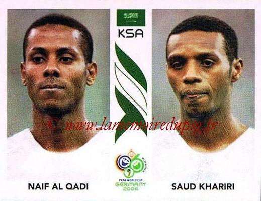 2006 - Panini FIFA World Cup Germany Stickers - N° 591 - Naif AL QADI + Saud KHARIRI (Arabie Saoudite)