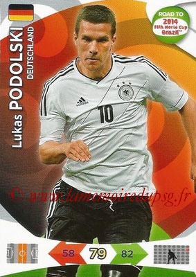 2014 - Panini Road to FIFA World Cup Brazil Adrenalyn XL - N° 057 - Lukas PODOLSKI (Allemagne)