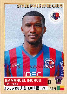 2014-15 - Panini Ligue 1 Stickers - N° 057 - Emmanuel IMOROU (SM Caen)