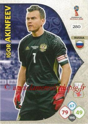 2018 - Panini FIFA World Cup Russia Adrenalyn XL - N° 280 - Igor AKINFEEV (Russie)