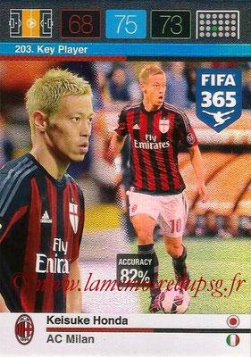 2015-16 - Panini Adrenalyn XL FIFA 365 - N° 203 - Keisuke HONDA (Milan AC) (Key Player)