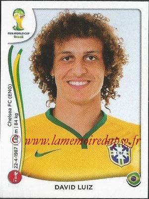 2014 - Panini FIFA World Cup Brazil Stickers - N° 036 - David LUIZ (Brésil)