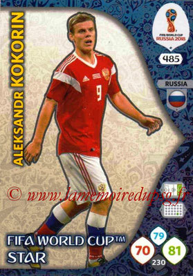 2018 - Panini FIFA World Cup Russia Adrenalyn XL - N° 485 - Aleksandr KOKORIN (Russie) (FIFA World Cup Star) (Nordic Edition)