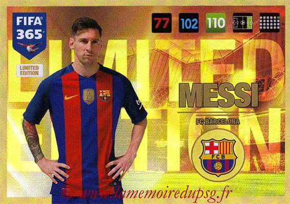 2016-17 - Panini Adrenalyn XL FIFA 365 - N° LE09 - Lionel MESSI (FC Barcelone) (Limited Edition)