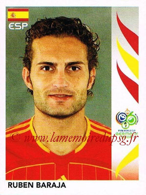 2006 - Panini FIFA World Cup Germany Stickers - N° 540 - Ruben BARAJA (Espagne)