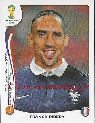 2014 - Panini FIFA World Cup Brazil Stickers - N° 389 - Franck RIBERY (France)