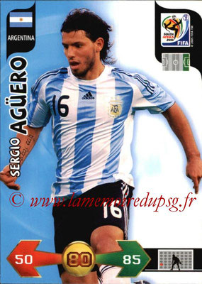 2010 - Panini FIFA World Cup South Africa Adrenalyn XL - N° 016 - Sergio AGUERO (Argentine)