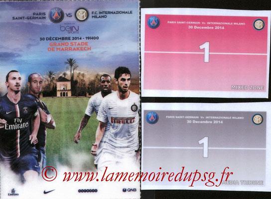 Badges presse  Inter Milan-PSG  2014-15