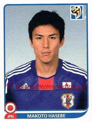 2010 - Panini FIFA World Cup South Africa Stickers - N° 384 - Makoto HASEBE (Japon)