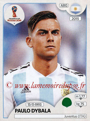 2018 - Panini FIFA World Cup Russia Stickers - N° 289 - Paulo DYBALA (Argentine)