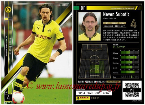 Panini Football League 2013 - PFL03 - N° 098 - Neven Subotic (Borussia Dortmund)