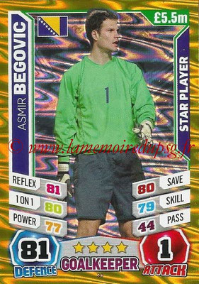 Topps Match Attax England 2014 - N° 030 - Asmir BEGOVIC (Bosnie Herzégovine) (Star Player)