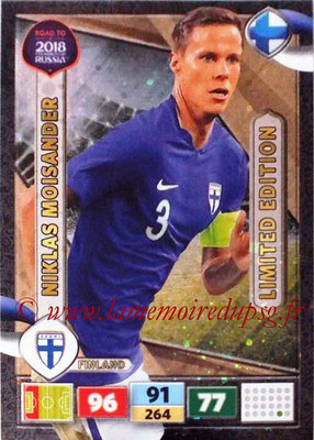 2018 - Panini Road to FIFA World Cup Russia Adrenalyn XL - N° LE-NM - Niklas MOISANDER (Finlande) (Limited Edition)