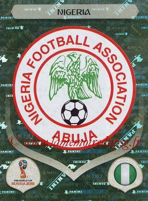 2018 - Panini FIFA World Cup Russia Stickers - N° 332 - Ecusson Nigeria