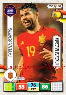 2018 - Panini Road to FIFA World Cup Russia Adrenalyn XL - N° ESP18 - Diego COSTA (Espagne)