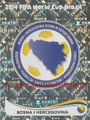 2014 - Panini FIFA World Cup Brazil Stickers - N° 431 - Ecusson Bosnie Herzegovine
