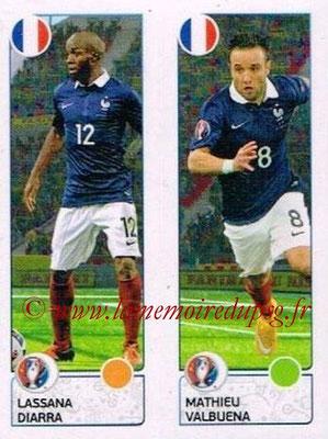 Panini Euro 2016 Stickers - N° 041 - Lassana DIARRA + Mathieu VALBUENA (France)