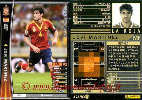 2012-13 - WCCF - N° A74 - Javi MARTINEZ (Espagne)