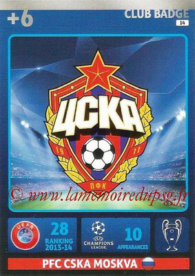2014-15 - Adrenalyn XL champions League N° 014 - Logo CSKA Moscou (Club Badge)
