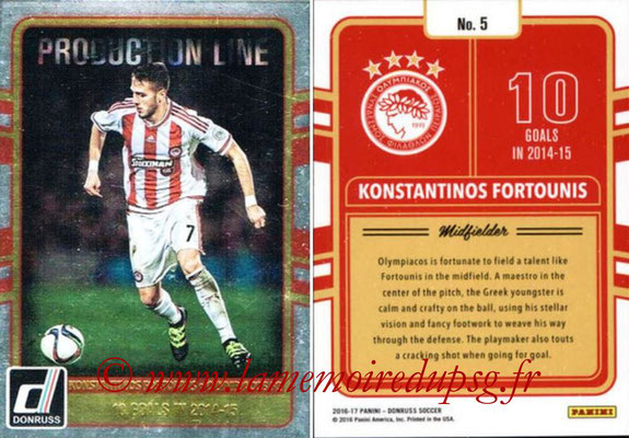 2016 - Panini Donruss Cards - N° PL05 - Konstantinos FORTOUNIS (Olympiacos FC) (Production Line)