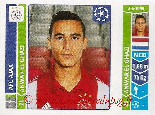 2014-15 - Panini Champions League N° 469 - Anwar EL GHAZI (AFC Ajax)