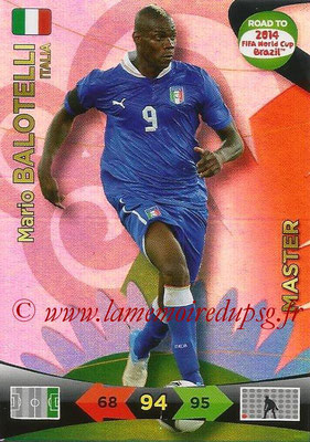 2014 - Panini Road to FIFA World Cup Brazil Adrenalyn XL - N° 228 - Mario BALOTELLI (Italie) (Master)