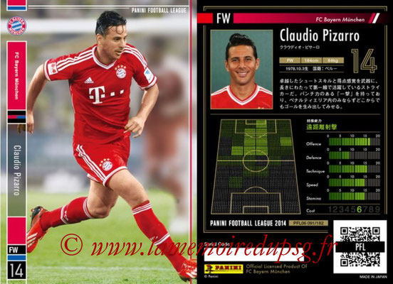 Panini Football League 2014 - PFL06 - N° 091 - Claudio PIZARRO (FC Bayern Munich)
