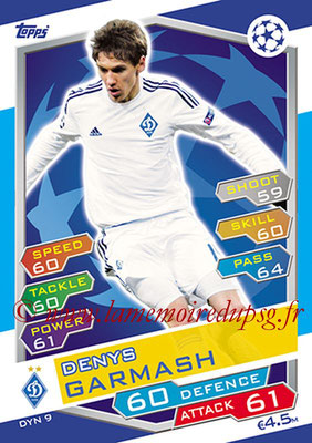 2016-17 - Topps UEFA Champions League Match Attax - N° DYN9 - Denys GARMASH (FC Dynamo Kiev)