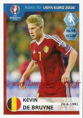 Panini Road to Euro 2016 Stickers - N° 008 - Kevin DE BRUYNE (Belgique)