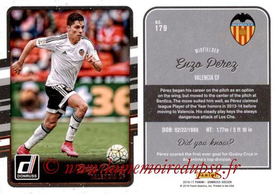 2016 - Panini Donruss Cards - N° 179 - Enzo PEREZ (FC Valence)