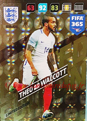 2017-18 - Panini FIFA 365 Cards - N° LE-TW - Theo WALCOTT (Angleterre) (Limited Edition)