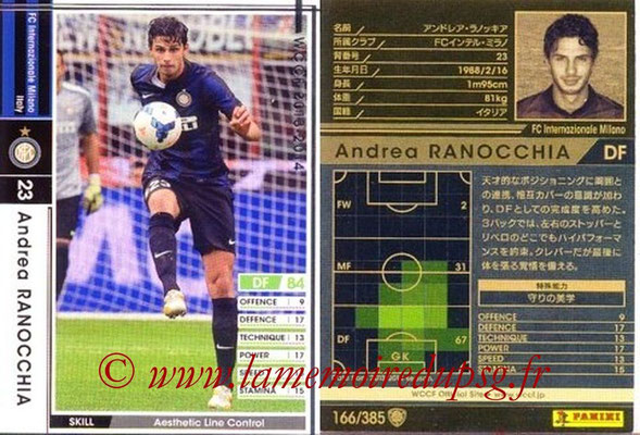 2013-14 - WCCF - N° 166 - Andrea RANOCCHIA (Inter Milan)