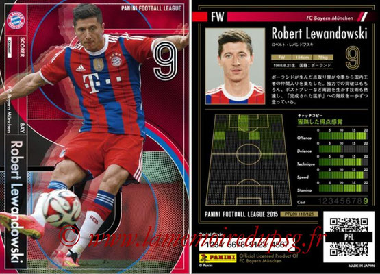 Panini Football League 2015 - PFL09 - N° 118 - Robert LEWANDOWSKI (Bayern Munich) (Scorer)