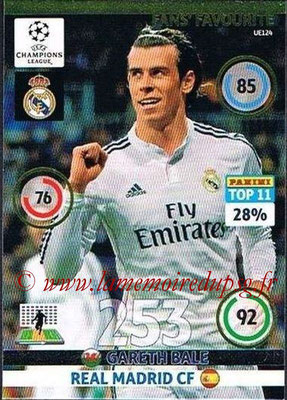 2014-15 - Adrenalyn XL champions League Update edition N° UE124 - Gareth BALE (Real Madrid) (Fans' Favourite)