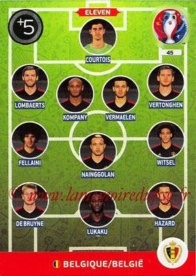 Panini Euro 2016 Cards - N° 045 - Équipe Type (Belgique)