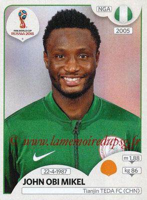2018 - Panini FIFA World Cup Russia Stickers - N° 341 - John OBI MIKEL (Nigeria)