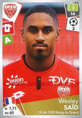 2017-18 - Panini Ligue 1 Stickers - N° 123 - Wesley SAÏD (Dijon)