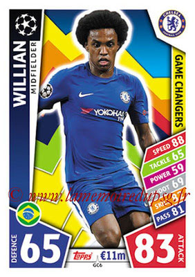 2017-18 - Topps UEFA Champions League Match Attax - N° GC06 - WILLIAN (Chelsea FC) (Game Changers)