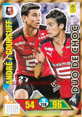 2017-18 - Panini Adrenalyn XL Ligue 1 - N° 441 - Yoann GOURCUFF + Benjamin ANDRE (Rennes) (Duo de Choc)