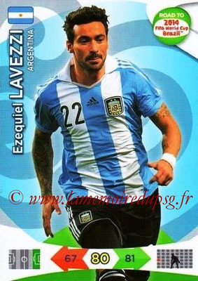 2014 - Panini Road to FIFA World Cup Brazil Adrenalyn XL - N° 012 - Ezequiel LAVEZZI (Argentine)