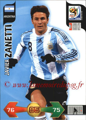 2010 - Panini FIFA World Cup South Africa Adrenalyn XL - N° 007 - Javier ZANETTI (Argentine)