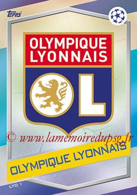 2016-17 - Topps UEFA Champions League Match Attax - N° LYO1 - Logo Olympique Lyonnais