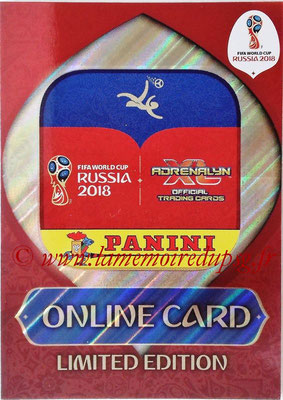 2018 - Panini FIFA World Cup Russia Adrenalyn XL - N° LE-OL - Online Card (Limited Edition)
