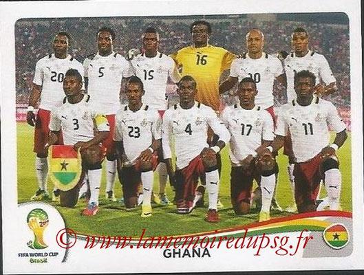 2014 - Panini FIFA World Cup Brazil Stickers - N° 527 - Equipe Ghana