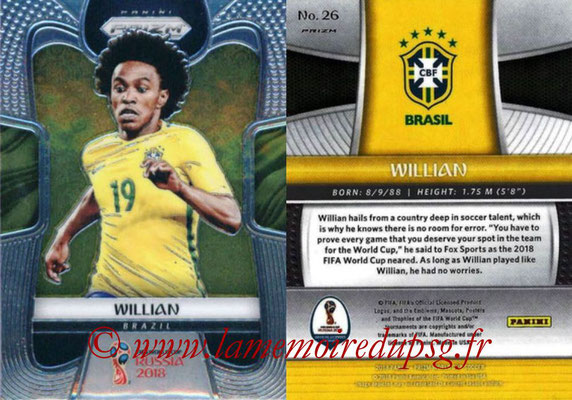 2018 - Panini Prizm FIFA World Cup Russia - N° 026 - WILLIAN (Bresil)